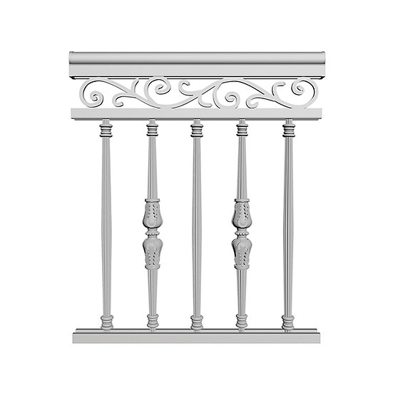 Aluminum Picket Railing | French Picket with Scroll