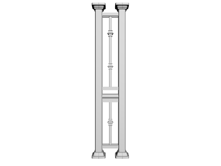 Aluminum Column | Double Post with Collar Railings
