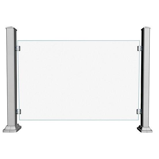 Aluminum Glass Railing | GRCD6