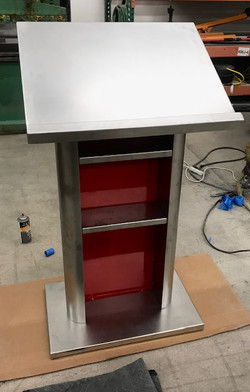 rear of custom podium
