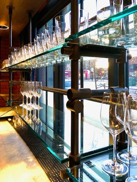 custom brass glass rack