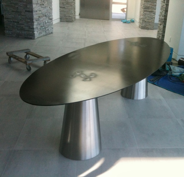 custom stainless dining table