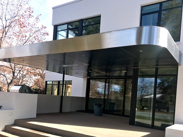 stainless patio clad