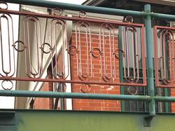 vintage iron rail