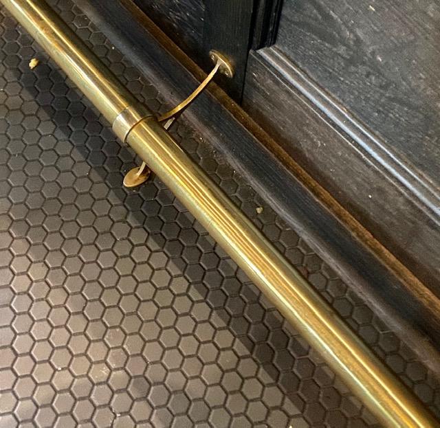 custom brass footrail