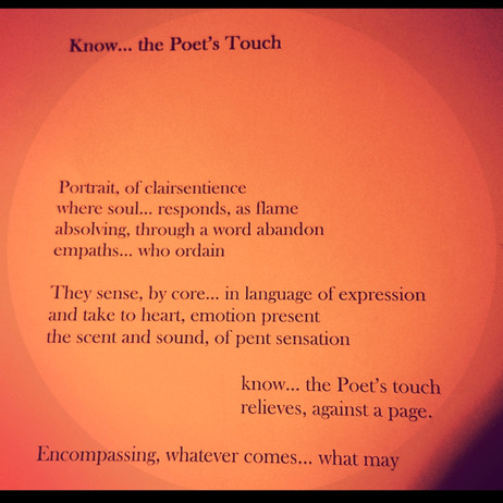 Know... the Poet's Touch