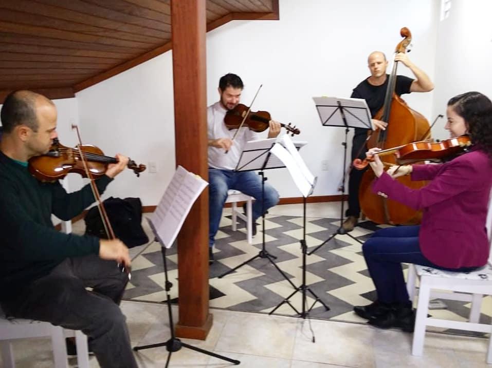 Ensaio do quarteto de cordas