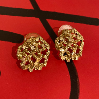 80's Gold Stud Earrings