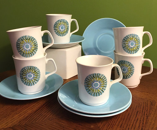 1960's Meakin Cups & Saucers