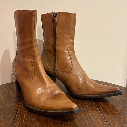 1980's Tan Leather Boots