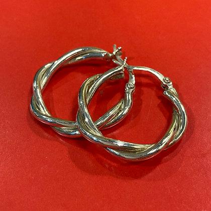 Vintage Sterling Silver Hoops
