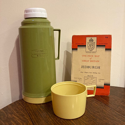 1970's Green Thermos