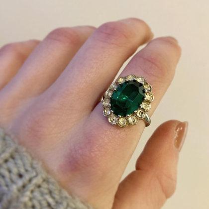 Vintage Emerald Costume Ring