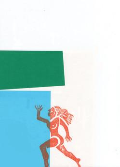 Screenprint/Linocut Composition