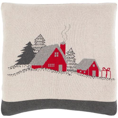 Very Merry Farmhouse Throw Pillow