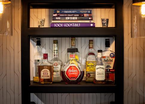 Shelf with liquor