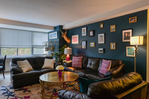 Dark Harbor Eclectic Living Room