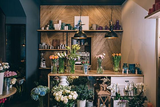 Small business. Flower shop interior. Fl