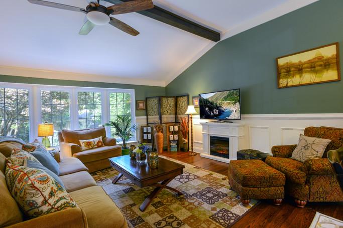 Wainscotting Fireplace Living Room