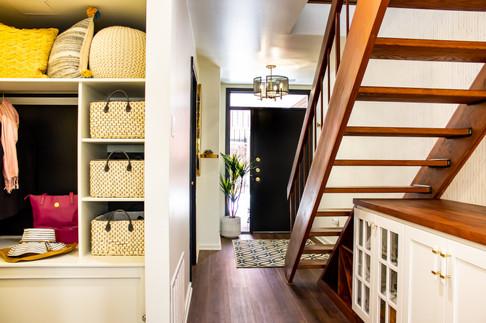 Open Closet and Front Door