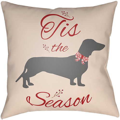 Holiday Home - Dachshund - Throw Pillow