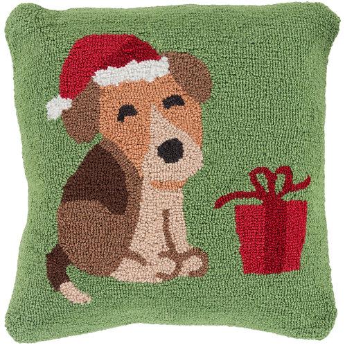 Winter Pup Throw Pillow