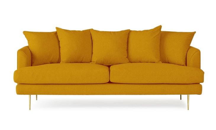 Joybird Aime Sofa in Cordova Amber (Yellow)