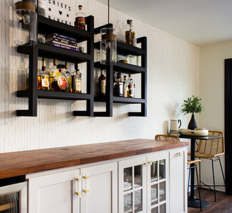 Shelves and Butcher Block Counter