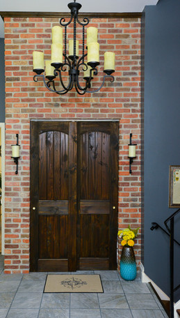 Brick and Wrought Iron Entry