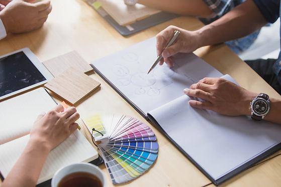 Group of Designers Brainstorming. Design