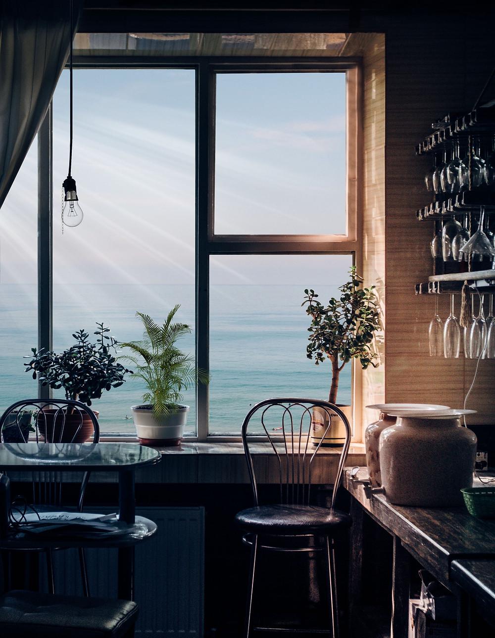 House overlooking ocean
