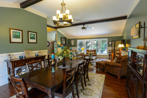 Dining Room Teal and Green