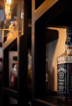 Jack Daniels on shelf