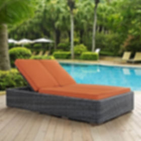 Double Outdoor Patio Chaise in Tuscan Su