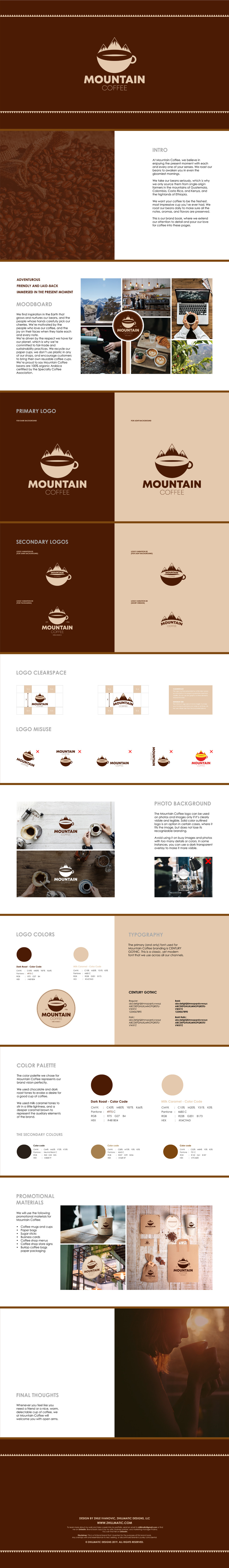 Complete Branding and Logo Design for Mountain Coffee Brand by Zhillmatic