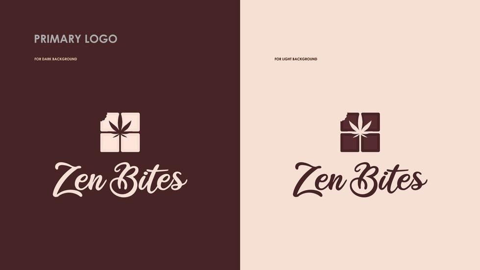 Logo Design and Brand Identity for Zen Bites CBD Chocolate by Zhillmatic