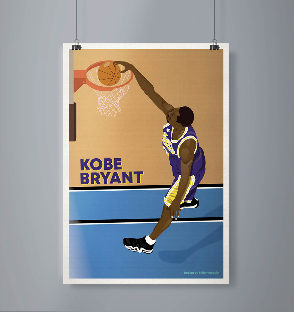 Poster Design by Zhillmatic - Kobe Bryant 8 All Star