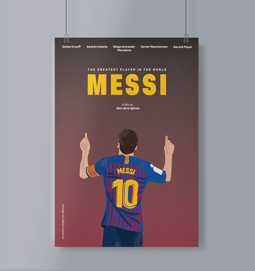 Movie Poster Design by Zhillmatic for the Movie MESSI