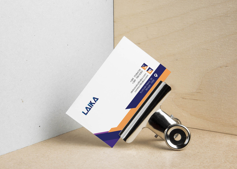 Business Card Design by Zhillmatic for Laika Job Search Platform