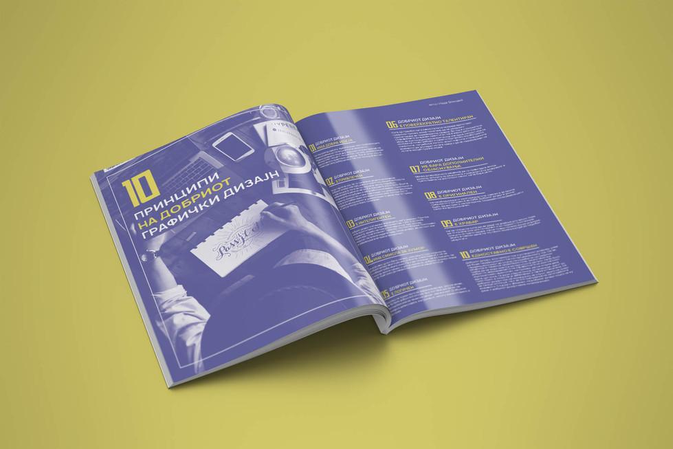 Magazine Spread Design by Zhillmatic
