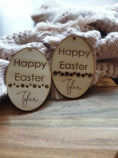 Easter Egg gift tag