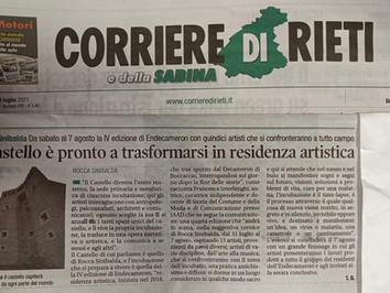 Endecameron21 su Il Corriere di Rieti