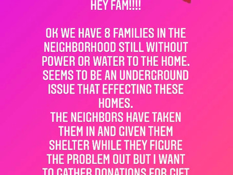 We have Families in Need!