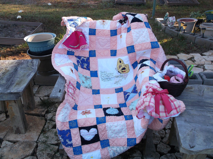 The finished Heirloom Quilts