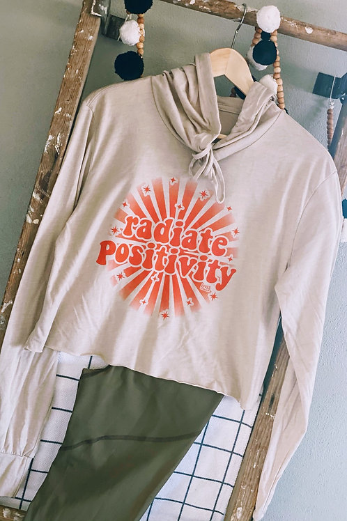 Radiate Positivity Lightweight Cropped Hoodie