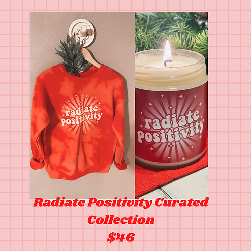 Radiate Positivity Dyed Crew and Candle