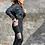 Thumbnail: Highwaist Trellis-Mesh Colorblock Full Leggings