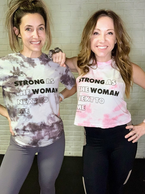 Strong Woman Custom Hand Dyed Tee