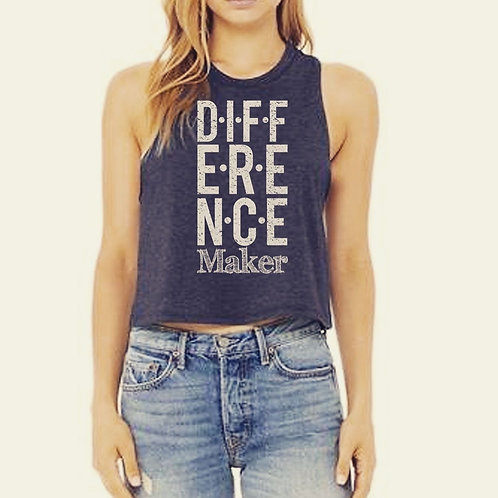 Difference Maker cropped tank