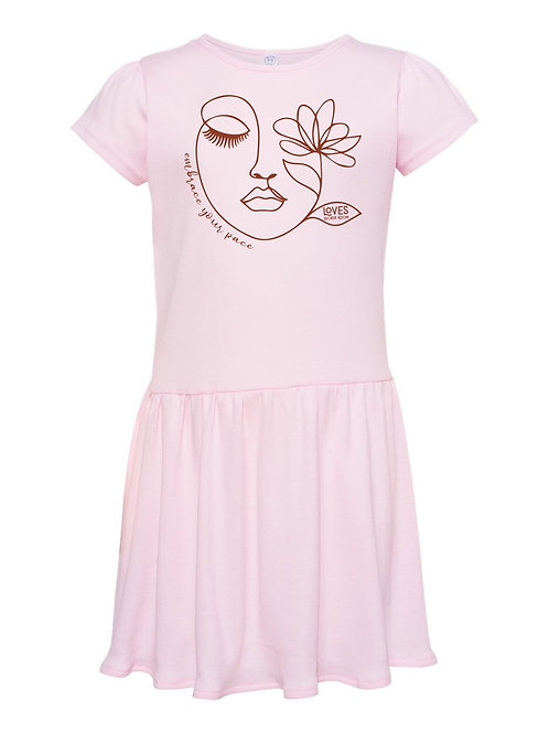 Embrace Your Pace Toddler Rib Dress